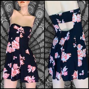 American Eagle floral strapless dress